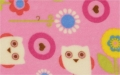 Fleece fabric - owls  - 50 cm