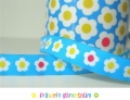 woven ribbon Miss Daisy turquoise
